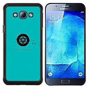 Primer atractivo- Metal de aluminio y de plástico duro Caja del teléfono - Negro - Samsung Galaxy A8 / SM-A800