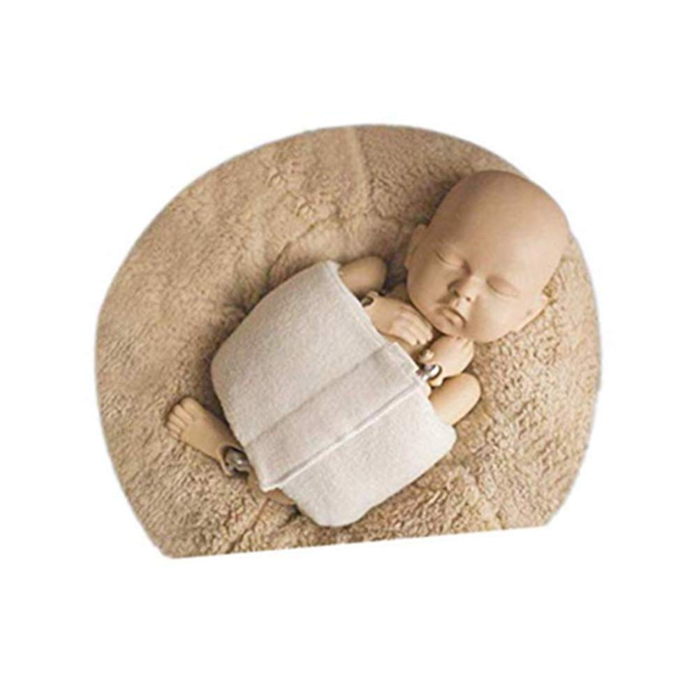 Coberllus Newborn Baby Photography Props Boys Girls Posing Professional for Posing Baby Contoured Posing Wrap Beige, Medium by Coberllus