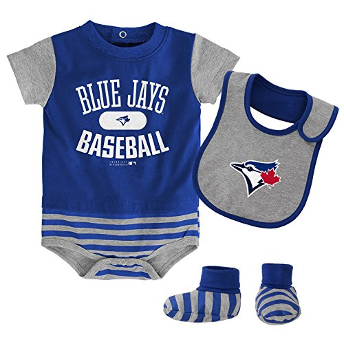 OuterStuff MLB Toronto Blue Jays Newborn Boys Bib & Booty-0/3 Months