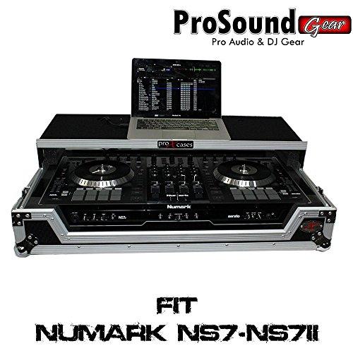 (ProX Cases Numark NS7II Digital Controller Flight Case with Wheels & Laptop Shelf (ProSoundGear) Authorized Dealer)