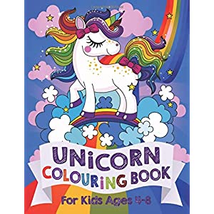 Unicorn-Colouring-Book-For-Kids-ages-4-8-Silly-Bear-Colouring-BooksPaperback--13-April-2018