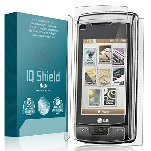 IQ Shield Matte Full Coverage Anti-Glare Full Body Skin + Screen Protector for LG enV Touch (VX11000) Anti-Bubble Film
