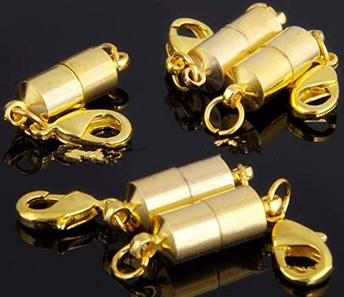 Magnetic Clasps Converter for Necklace Bracelet Anklet Chains DNHCLL 10PCS Magnetic Jewelry Clasp Gold /& Silver Magnetic Lobster Clasp
