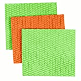 Casabella Lime and Orange Assorted Large Cellulose Sponge Cloths, Pack of 3
