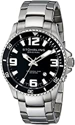 Stuhrling Original Men's 395.33B11 Aquadiver Regatta Analog Swiss Quartz Stainless Steel Link Bracelet Watch