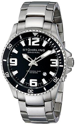 Stuhrling Original Herren-Armbanduhr Analog Quarz Edelstahl 395.33B11