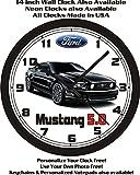 mustang car clock - 2013-2014 FORD MUSTANG 5.0 WALL CLOCK-FREE USA SHIP!