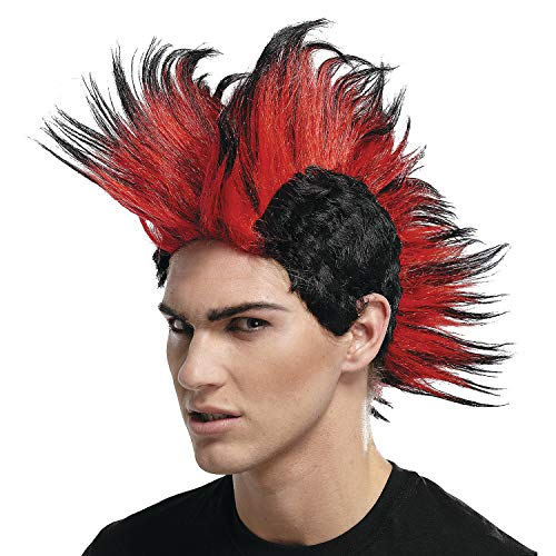 Fun Express - Double Mohawk Wig Black Red bl for Halloween - Apparel Accessories - Costume Accessories - Wigs & Beards - Halloween - 1 Piece]()