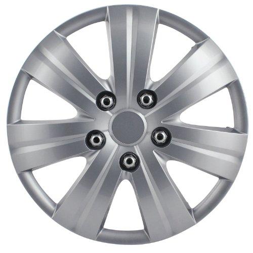 Pilot WH523-16S-BX Universal Fit Honda Civic Style Matte Silver 7-Spoke 16 Inch Wheel Covers -  Set of 4