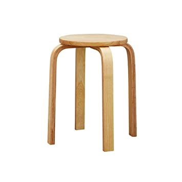 Surprising Amazon Com Lichenyao Bend Stool Stool Stool Stool Solid Forskolin Free Trial Chair Design Images Forskolin Free Trialorg