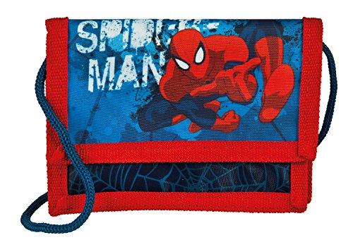 Undercover Geld/Brustbeutel mit Kordelband Spiderman, circa 13 x 8 x 5 cm Münzbörse, 0.5 Liter, Blau