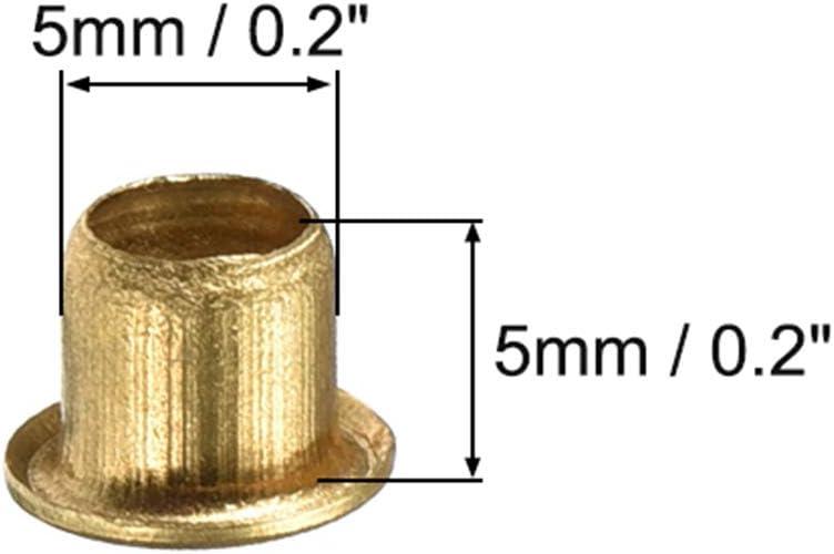 sourcing map 2.5mm x 5mm Attraverso Foro Rame Rivetti Cavi occhielli Circuito Scheda PCB 200Pz
