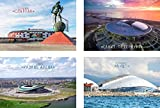 FIFA 2018 Postcard Russian Stadium, Modern unposted - Set of 4