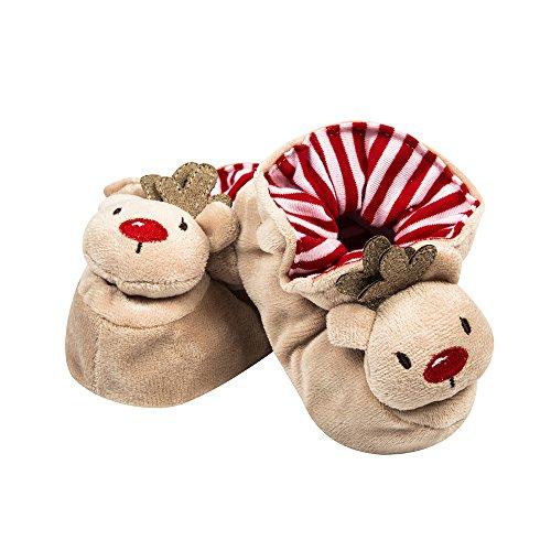 ESTAMICO Unisex Neugeborene Baby Halloween Kürbis Schuhe Orange, Rot - rot - Größe: 3-6 monate Khaki