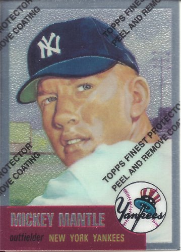 Mickey Mantle 1996 Topps Finest #3 1953 Topps
