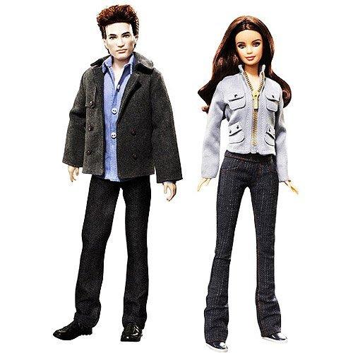 Twilight Bella and Edward Barbie Pink Label Collection Dolls - Set of 2 (Barbie Edward Doll)