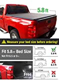 Premium Tcc371003 Trifold Tonneau Truck Bed Cover For 07-13 Chevy/gmc Silverado/sierra (new Body Style) 5.8 Feet (68 Inch) Trifold Truck Cargo Bed Tonno Cover (not For Stepside)