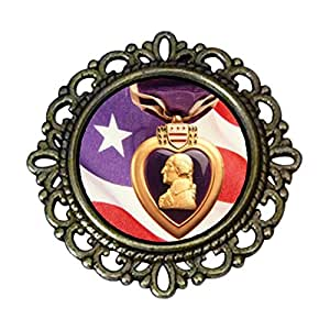 Chicforest Ancient Style American president George Washington Flower Pin Brooch