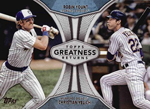 2019 Topps Series 1 - Greatness Returns - Christian Yelich & Robin Yount - Milwaukee Brewers Baseball Card #GR5