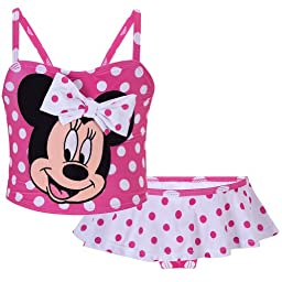 Disney Store Minnie Mouse Swimsuit Size 2T: 2-Piece Swimwear for Toddler Girls