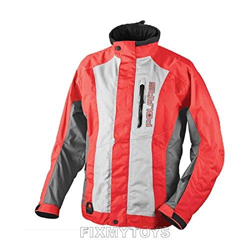 - Polaris Womens Throttle Snowmobile Jacket Coral/Gray 3XLarge