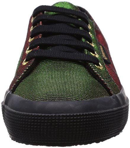 Green Sneakers Women's Superga Black Red xqIZn75