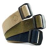Men's Web Belt 3 Pack