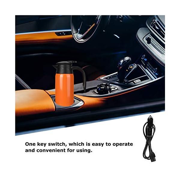 51PV%2Bl8%2BvvL Tbest Auto Kessel Heizungs Schale, 800ml Edelstahl auto elektrischer erhitzter Wasserkocher Flaschen Schale Tragbarer…