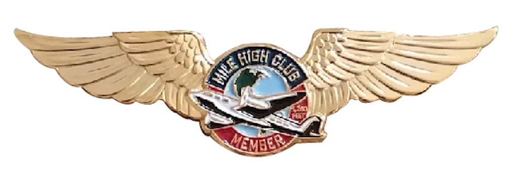 Strike Zone, Inc. Mile HIGH Club Member Wings Lapel PIN
