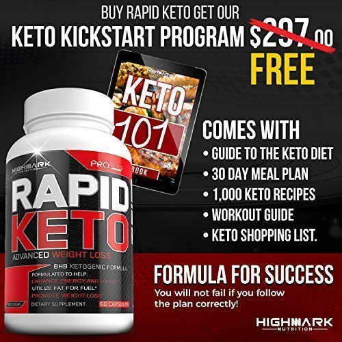 Rapid Keto Diet Pills | Advanced Ketogenic Diet Weight Loss Supplement | BHB Salts Exogenous Ketones Capsules for Men & Women | Fast & Effective Ketosis Diet Fat Burner | Promote Energy & Focus | 60 by HighMark Nutrition (Image #3)