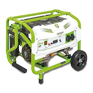 Groway GEN 3200B - Generador eléctrico a gasolina de 212 cc, 3000 W, 230 V, monofásico: Amazon.es: Jardín