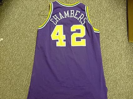new styles 259fd c7b5d Tom Chambers Utah Jazz 1994-1995 Champion Purple Game Jersey ...