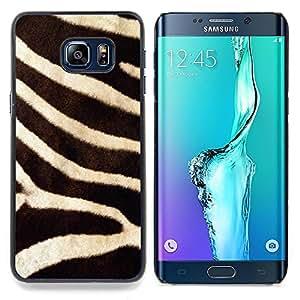 "For Samsung Galaxy S6 Edge Plus / S6 Edge+ G928 Case , Modelo de la cebra animal de piel natural de África"" - Diseño Patrón Teléfono Caso Cubierta Case Bumper Duro Protección Case Cover Funda"