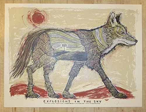 2016 Explosions In The Sky - Los Angeles Silkscreen Concert Poster by Dan - Angeles Rock In Los Stores