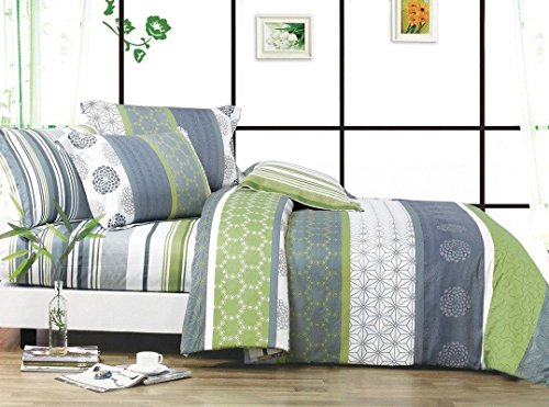 Cheap  Swanson Beddings Serene 3-Piece 100% Cotton Bedding Set: Duvet Cover and Two..