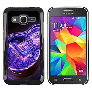 Stuss Case / Funda Carcasa protectora - Guitar Electric Blue Music Instrument Black - Samsung Galaxy Core Prime SM-G360