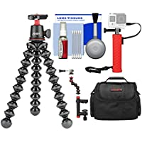 Joby GorillaPod 3K Flexible Mini Tripod with Ball Head Kit + Case + Hand Grip + Action Camera Clamp + Kit