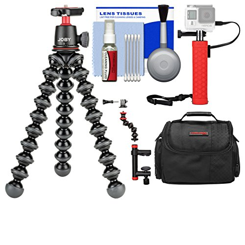Joby GorillaPod 3K Flexible Mini Tripod with Ball Head Kit + Case + Hand Grip + Action Camera Clamp + Kit by Joby