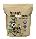 Anthony's Organic Hibiscus Flowers, 1lb, Cut & Sifted, Gluten Free, Non GMO, Non Irradiated, Keto Friendly