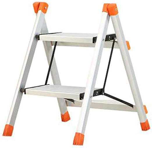 OhLt-j Taburete, Escalera for taburetes Inicio Escalera Dos Pasos Cocina Escalera Ascendente Escalera Plegable Escalera móvil Silla multifunción (Color: Plata, Tamaño: 39 * 53 * 57cm): Amazon.es: Hogar