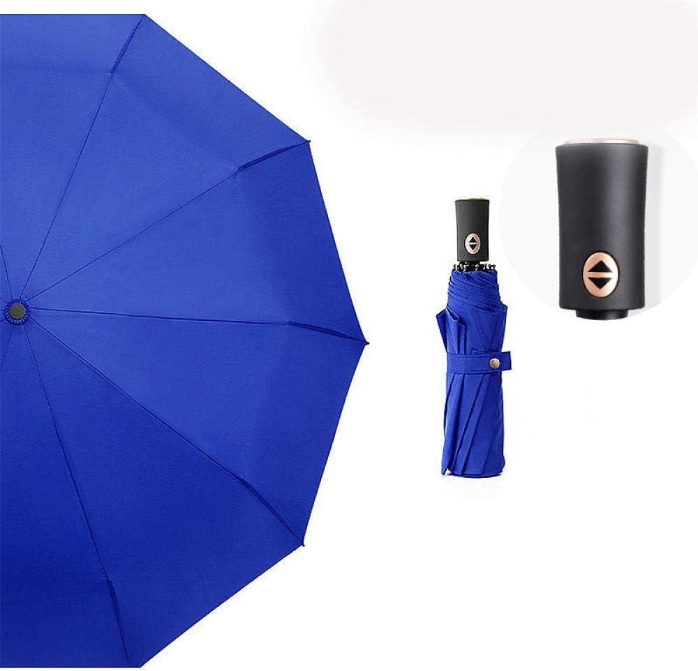 flqwe Parapluies de Voyage et Sorties en Plein air,Parapluie enti/èrement Automatique /à dix os Parapluie ensoleill/é Pliant Coupe-Vent,Mini Parapluie Hydrofuge Parapluies