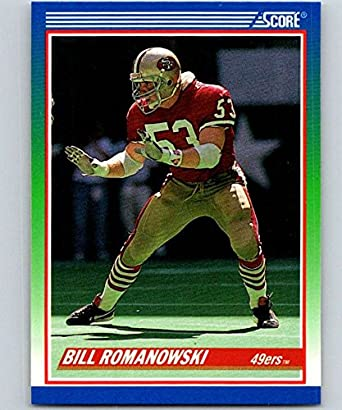 5c29419c4 Amazon.com  1990 Score  408 Bill Romanowski RC Rookie 49ers NFL ...