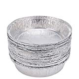 9 Inch Round Disposable Aluminum Foil Pans(30 Pack) for Baking, Cooking, Takeouts and Catering,Storage & Reheating
