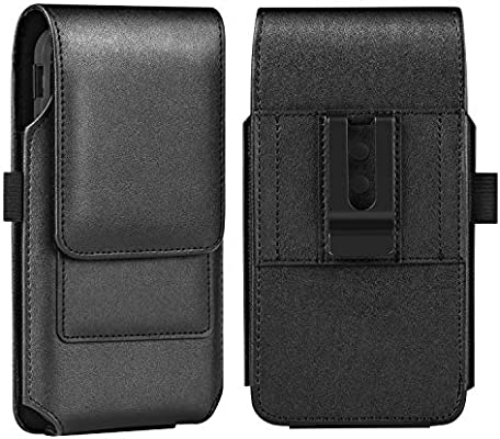 detailed look 5f129 2c2de BECPLT iPhone Xs MAX Holster Case, iPhone 8 Plus 7 Plus Belt Clip Case,  Premium Leather Holster Pouch Case Belt Clip with Card Holder for iPhone Xs  ...