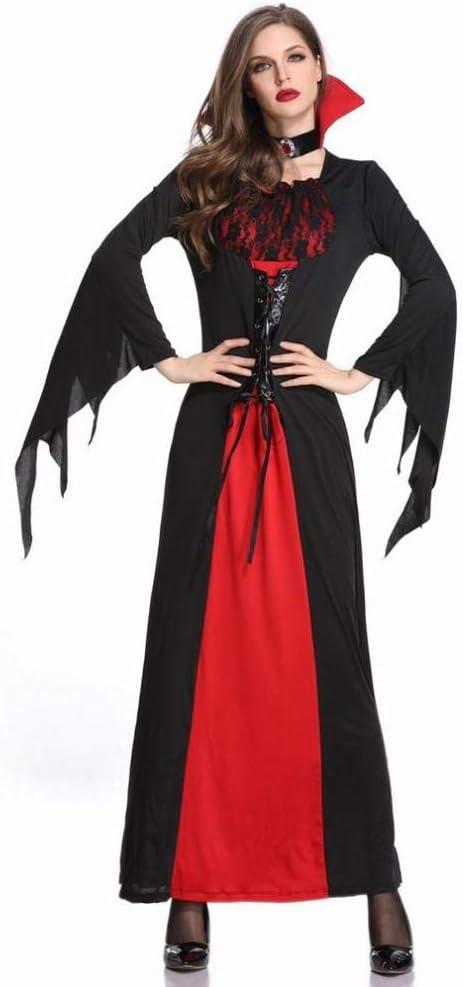 CN Disfraz de Halloween Vampiro Bruja Vestido Falda Larga Disfraz ...
