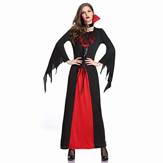 MU Disfraz de Halloween Vampiro Bruja Vestido Falda Larga Disfraz ...