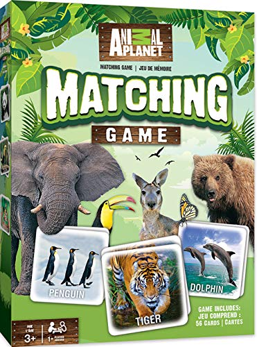 MasterPieces Animal Planet Matching Game, Includes 56 Cards, 1 or More Players, for Ages 3+