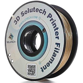 3D Solutech Real Gold 3D Printer PLA Filament 1.75MM Filament, Dimensional Accuracy +/- 0.03 mm, 2.2 LBS (1.0KG) - 100% USA