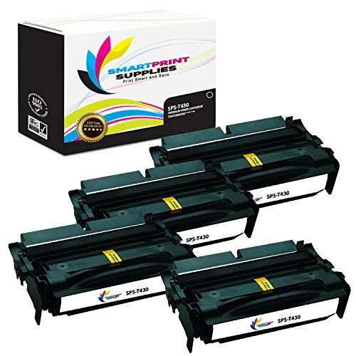 Smart Print Supplies 12A8425 Lexmark T430 Premium Black 4-Pack Compatible Toner Cartridge Replacement also for T430D T430DN Laser Printers (12,000 Pages) (Printer Laser T430)