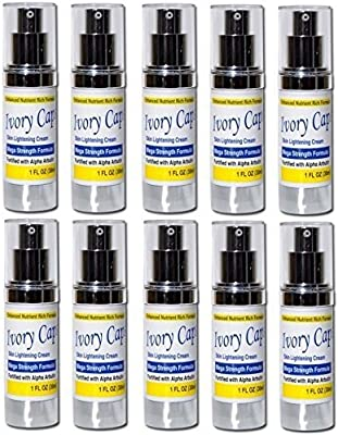 (Pack of 10) Ivory Caps Skin Whitening Lightening Support Cream by YouLookLight